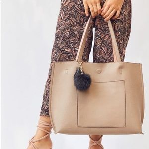 Urban Outfitters Taupe/Blush Reversible Tote